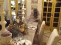 P7)frenchstylecourtyard;farrowandballpaint;venetianplasterwalls;skimstonetabletop;linenslipcoverchairs