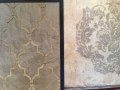 CU4)moroccan motif stencil with skim stone and damask venetian plaster