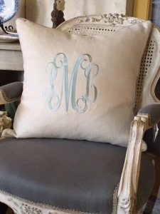 Custom Monogram Linen Pillows $195