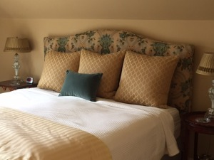 Custom Bedding and Headboard
