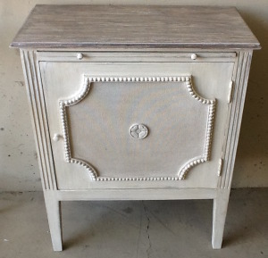 Side table in Off White and Ash $645